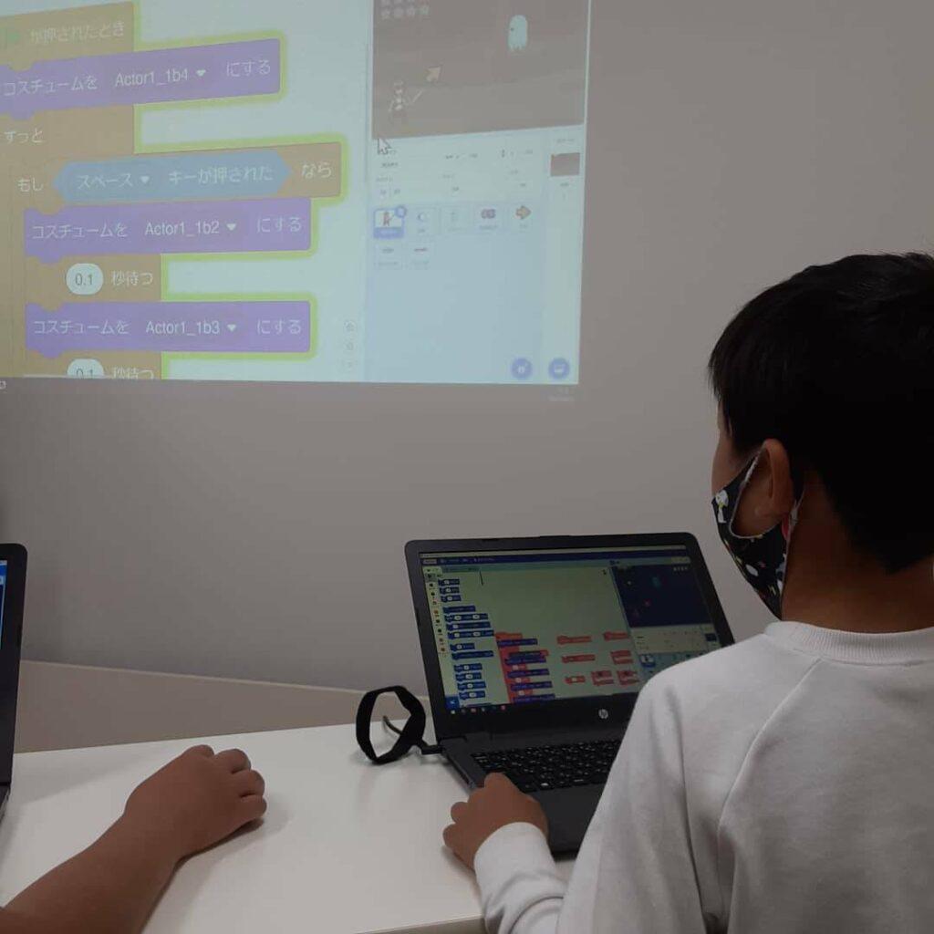 プログラミング教室の様子1
