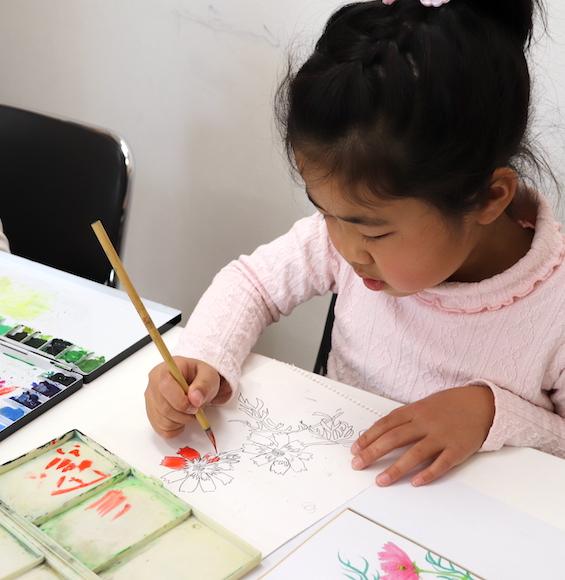 絵画(おえかき)教室の様子